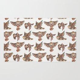 Owls in Flight – Brown Palette Rug