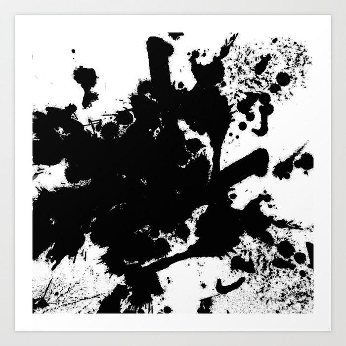 black and white splat abstract black paint splatter painting art