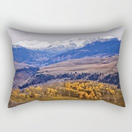 Mountain majesty and autumn gold Rectangular Pillow