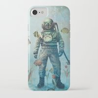 fish iPhone & iPod Cases featuring Deep Sea Garden  by Terry Fan