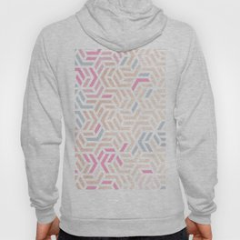 Pastel Deco Hexagon Pattern - Gold, pink & grey #pastelvibes #pattern #deco Hoody