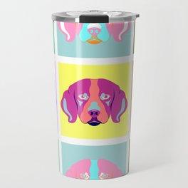 Beagle Dog Pop Art Travel Mug