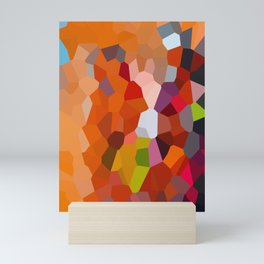 Pixelated Lanterns in Joy and Orange Mini Art Print