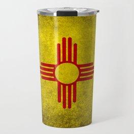 Flag of New Mexico - vintage retro style Travel Mug