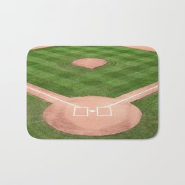 Baseball field Bath Mat
