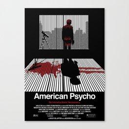 American Psycho - Poster Canvas Print