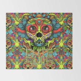 Cute Skull Dia de Los Muertos Throw Blanket
