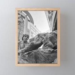 Downtown Statues Framed Mini Art Print