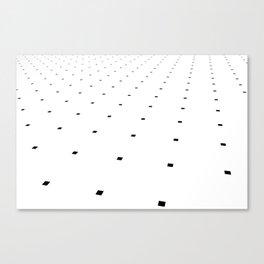Black and White Minimal Pixels III Canvas Print