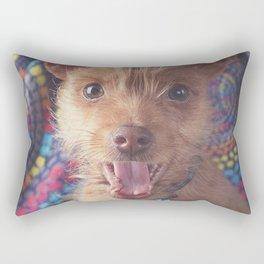 Puppy Laugh Rectangular Pillow