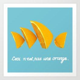 Ceci n'est pas une orange Art Print