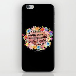 A Thousand Perfect Notes Quote iPhone Skin