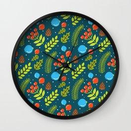 Christimas Pattern Wall Clock