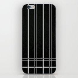 Pinstripes on Scratched Grunge Illustration - Digital Artwork iPhone Skin