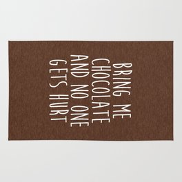 Bring Me Chocolate Funny Quote Rug