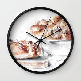 Challah Bread Wall Clock