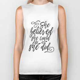 She Believed She Could So She Did Digital Machine Embroidery Applique Design Biker Tank