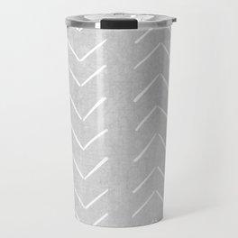 Mudcloth Big Arrows in Grey Travel Mug