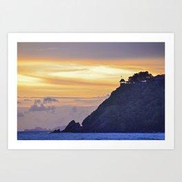 Sunset on the islands Art Print