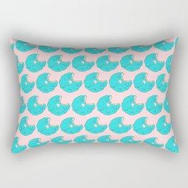 Teal Sprinkled Donut Rectangular Pillow
