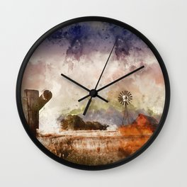 Into the Fields Wall Clock