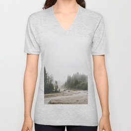 Riverside landscape photography Unisex V-Neck