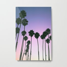 Palm Tree Purple Sunset Metal Print