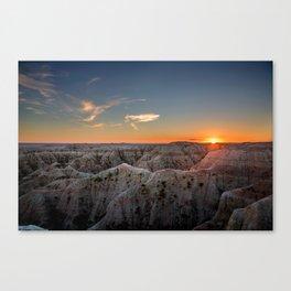 South Dakota Sunset - Dusk in the Badlands Canvas Print
