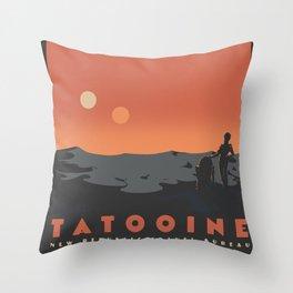Visit Tatooine Throw Pillow