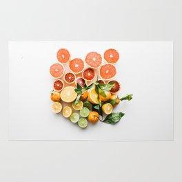 Lemon orange leaf Rug