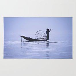 FISHERMAN AT INLE LAKE II Rug