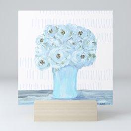 Boho still life flowers in vase Mini Art Print