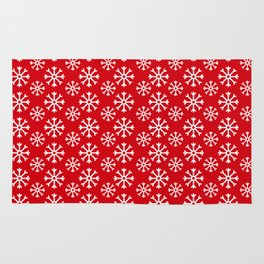 Winter Wonderland Snowflake Christmas Pattern Rug