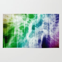 Retro, Boho Chic Tye-Dye Pattern Rug