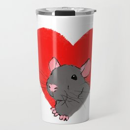 Heart Rat Travel Mug