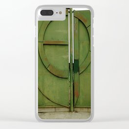 #175Photo #193 Closed #Gate #GreenWithRust #Retro Clear iPhone Case