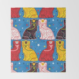 staffordshire dogs Throw Blanket