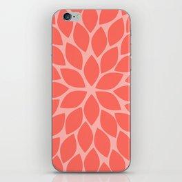 Coral Chrysanthemum iPhone Skin