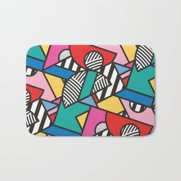 Colorful Memphis Modern Geometric Shapes Bath Mat