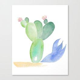 Cactus Shadow Canvas Print