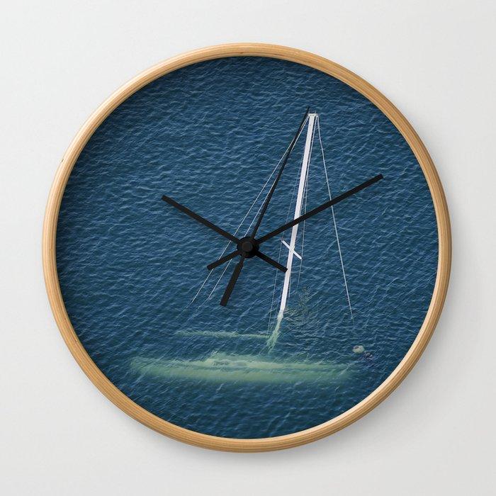 Sunken Sailboat Wall Clock
