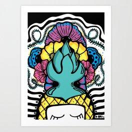 Lovely Pineapple Art Print