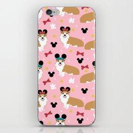 Corgi theme park lover dog breed pattern gifts iPhone Skin