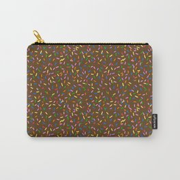 Chocolate frosted rainbow sprinkles Carry-All Pouch