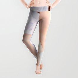 9374-KMA Brown Eyed Girl on Mirror Looking Up Fine Art Nude High Key Leggings