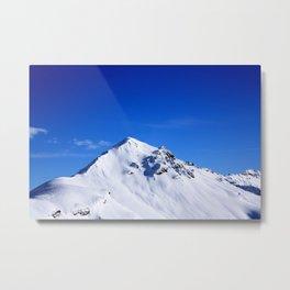 Beautiful view of the South Tyrol mountain peak Metal Print