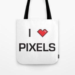 I heart Pixels Tote Bag