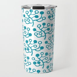 Mid Century Modern Berries Pattern turquoise Travel Mug