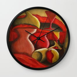 Warm Abstract Still Life Wall Clock