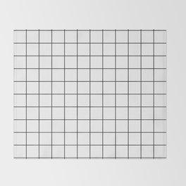 Grid Simple Line White Minimalistic Throw Blanket
